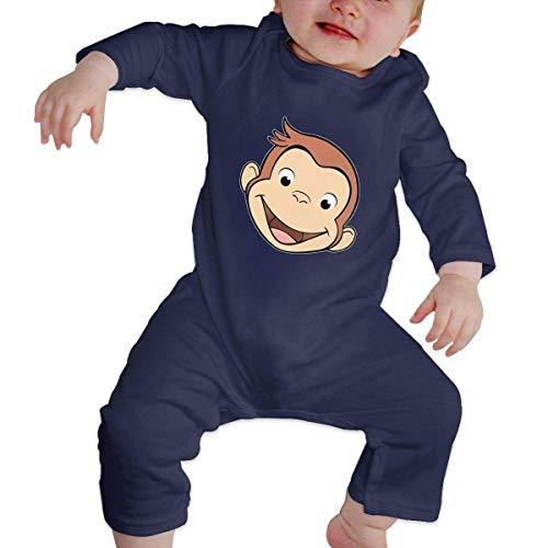 SDGSS Ropa para bebés Bodysuits Curious George Baby Climbing Clothing Baby Long Sleeve Garment Unisex Design Looks Great On Newborn 6-24 Months