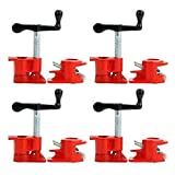 3/4' Wood Gluing Pipe Clamp Set Heavy Duty PRO Woodworking Cast Iron New FOUR