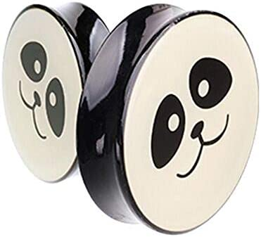Covet Jewelry Supersize Panda Facial Double Flared Ear Gauge Plug 1 3 4 44mm product image