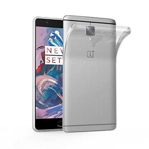 Cadorabo Hülle für OnePlus 3 / 3T - Hülle in VOLL TRANSPARENT – Handyhülle aus TPU Silikon im Ultra Slim 'AIR' Design - Silikonhülle Schutzhülle Soft Back Cover Case Bumper