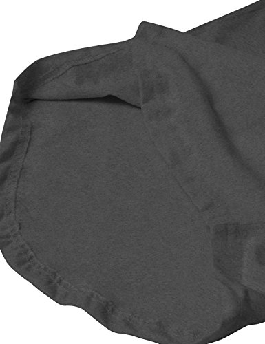Mens Basic Hipster T-Shirts Plain Hip-Hop Soft Cotton Casual Trim (X-Large, HBHP02-Charcoal)