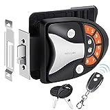 WELLUCK RV Lock Keyless Entry Door Handle Latch, Trailer Camper RV Door Lock Replacement w/ Knob Deadbolt, 1 Key-Fob and Backlit Keypad, Zinc Alloy Security RV/5th Accessories