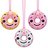 Chew Necklace for Sensory Kids, Silicone Donut Chewing Necklace for Baby Infant Toddlers Chewy Biting Teething,Sensory Chew Necklace for Boys Girls with Autism ADHD SPD Anxiety or Special Needs
