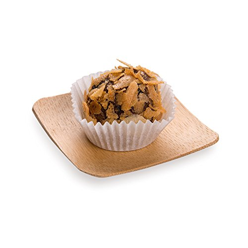 """Small Bamboo Plate with Raised Edges, Small Bamboo Dish - Square - 2.3"""" x 2.3"""" - Great for Catering, Buffets & Food Trucks - 100ct Box - Restaurantware"""