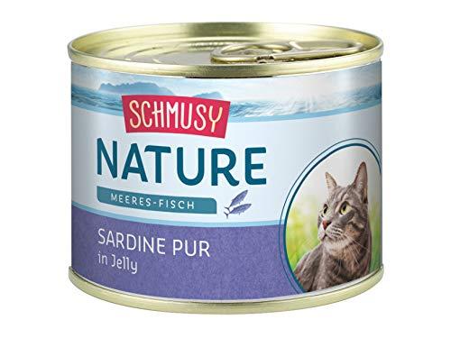 Schmusy Nature Meeres-Fisch Sardine Pur 12x185g