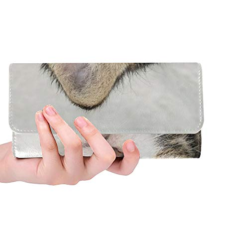 Unique Custom Baby Cat Cat Baby Kitten Cat Cute Sweet Young Cat Women Trifold Wallet Long Purse Credit Card Holder Case Handbag