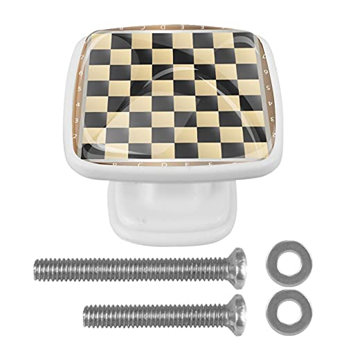 4 pomos para gabinete de cocina con tornillo, manija de cajón, diámetro del gabinete, diseño perfecto para cajones, aparador, armario, tablero de ajedrez