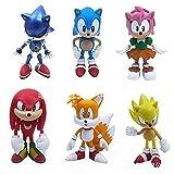 Sonic Bauble Set de 6 2021 Sonic Boy Sonic El erizo hecho a mano juguete de cama erizo muñeca decoración