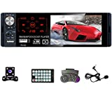 UNITOPSCI Car Stereo- Single Din 4.1 Inch Touch Screen Car Radio with Bluetooth Backup Camera Support Hands-Free Call Audio Radio Receiver FM AM RDS USB TF AUX in Remote Control Car MP5/4/3 Player
