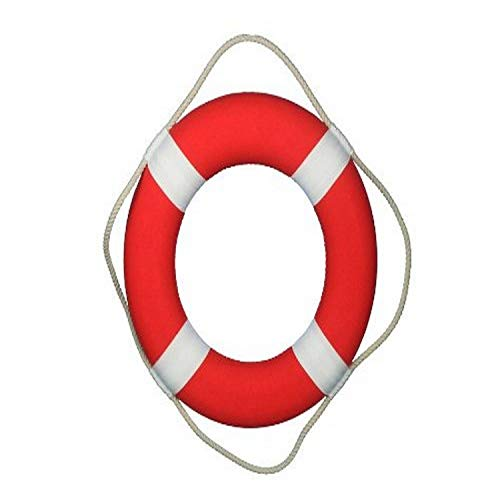 Hampton Nautical Vibrant Red Lifering with White Bands, 20