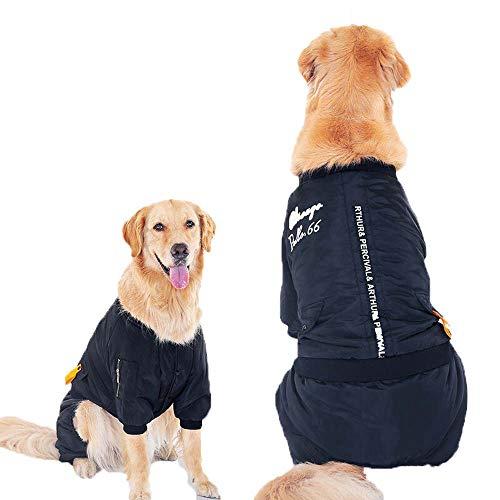 ZWW Kleding voor dieren, kleding voor honden, verwarmt katoen, mantel voor middelgrote en grote honden