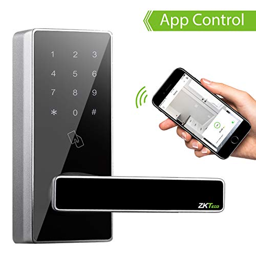 Cerradura Inteligente - ZKTeco DL30B (US) - Smart Lock + 5 Tarjetas RFID - Teclado Digital - Bluetooth 4.0 - Smartphone App - Ideal para Casa, Hoteles, Gym, Dormitorios.