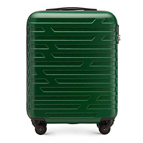 Stabiler Koffer-Trolley Handgepäck von WITTCHEN ABS 54 x 39 x 23 cm 2.8 kg 38 L Grün Bordgepäck Bordcase 56-3A-391-75