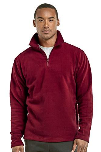 Knocker Herren Polar Fleece Quarter Zip Pullover - Rot - X-Groß