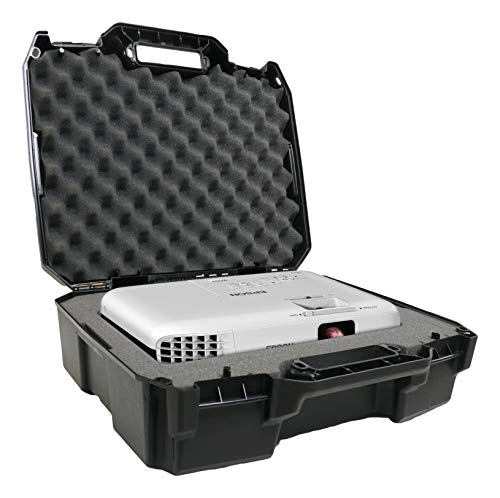 Case Club Projector Travel Case Compatible with Epson VS250 Svga, VS350 xga, VS355 wxga Projectors, Hdmi Cable and Remote with Custom Foam Compartment and Hard Shell Protection