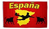 Flagge Fahne Spanien Espana Stier 90 x 150 cm