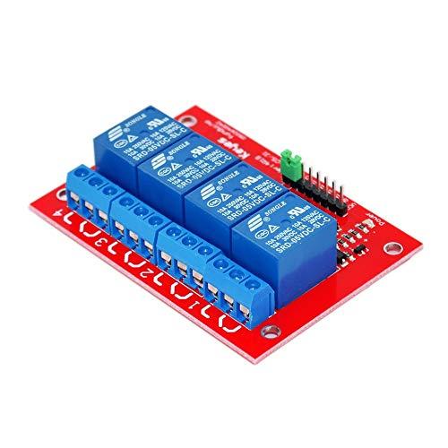 Módulo electrónico For 4-Canal Módulo De Relé De 5V De 4 Vías, La Lógica TTL PIC Arm TTL AVR DSP