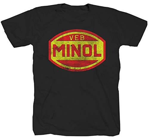 VEB Minol LPG DDR Ossi schwarz T-Shirt (5XL)