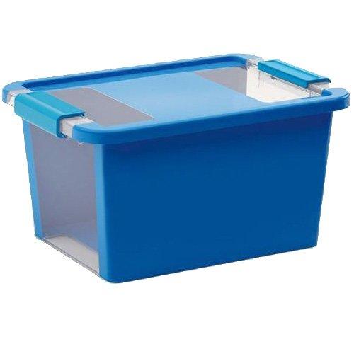 KIS Aufbewahrungsbox Bi Box 11 Liter in blau-transparent, Plastik, 36.5x26x19 cm