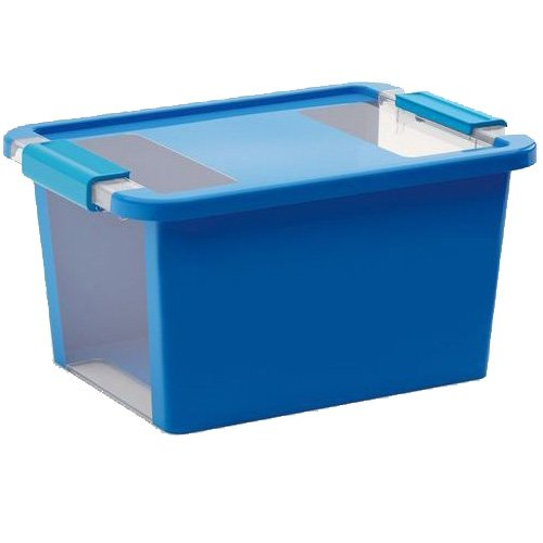 Kiss Kis Aufbewahrungsbox Bi Box 11 Liter in blau-transparent, Plastik, 36.5x26x19 cm
