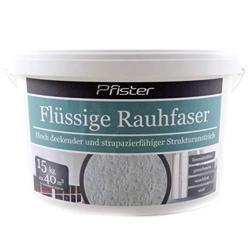 Flüssige Raufaser/Rauhfaser Pfister weiss 15kg hochdeckend