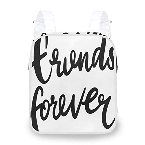 DoubleCW Best Friend Backpack Travel Backpack College School Bag Durable Student Bookbag for Men Women Business Lightweight Daypack Dual-purpose Crossbody bag