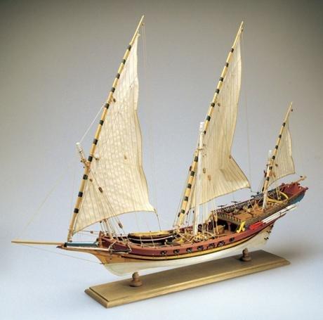 AMATI 1427. JABEQUE Pirata ÁRABE. Kit MAQUETA Barco DE