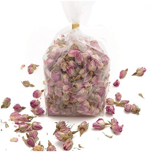 100 Gramm Rosa Rosenknospen und Rosenblätter Potpourri parfümiert Duftkissen Füllung und Raumduft Diffuser Rosa Deko