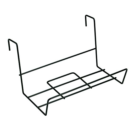 Sauvic 3235 Acier plastifié noir, 41x21 cm. Support Jardinière