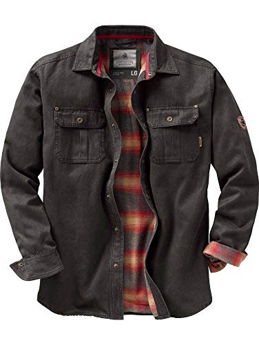 Legendary Whitetails Mens Journeyman Rugged Shirt Jacket, Tarmac, Large
