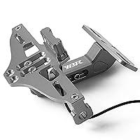 ヤマハのためのオートバイのナンバープレートホルダーのサポートプラークモトブラケットフレーム YBR 125 250 (Color : Gray)