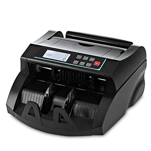 Bill Counter DOMENS UV+MG+IR+DD Counterfeit Detection Money Machine Counter-US Dollar Cash Counter-Portable Currency…