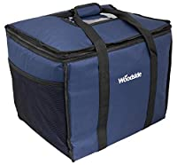 """50L CAPACITY – Extra large capacity ideal for fitting vast quantities of food or drink. Up to 6 x 14"""" pizza boxes can fit! MULTIUSE – This cool bag is fantastic for either a family picnic, a trip to the beach but also ideal for takeaway delivery driv..."""
