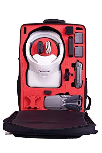 MC-CASES® Transport Rucksack für DJI Mavic 2 & DJI Goggles und DJI Standard und auch Smart Controller - Platz für 4 Akkus und Zubehör von MC-CASES - Made in Germany - Mit Regencape