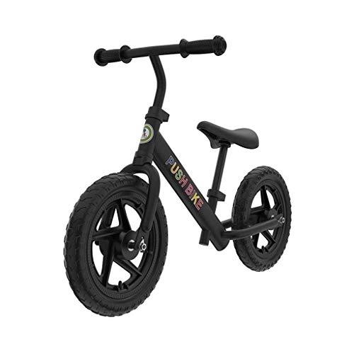 UNU_YAN Kinder Gleichgewicht Bike Zweirad-Scooter 2-7 Jahre alt Roller Kinder, Kinder Gleichgewicht Bike Leichte Zwei-Rad-Training Geht Fahrrad (Color : Black)