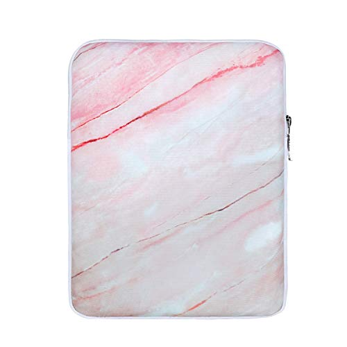 Hukado 9-11 inch Tablet Sleeve Case,Protective Carrying Bag Compatible iPad Air 3 10.5 2019,iPad 10.2, iPad Pro 11 2020, iPad 9.7,iPad Pro 10.5, Galaxy Tab A 10.1, Surface Go, Marble Pink 2