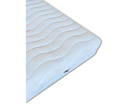 Vivere Zen - Materasso Lattice 100% Naturale - Gaia Silver 21 - Antibatterico Clima - Misura 80x200 cm. - Rivestimento C: Silver Imbottito (Cotone/Lana) - Lavatrice 40°