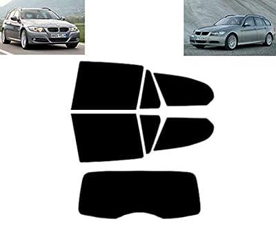 Film Solaire Prédécoupé Teinté pour-BMW 3 série E91 5-Portes Break 2005-2012 Vitres Arrière & Lunette