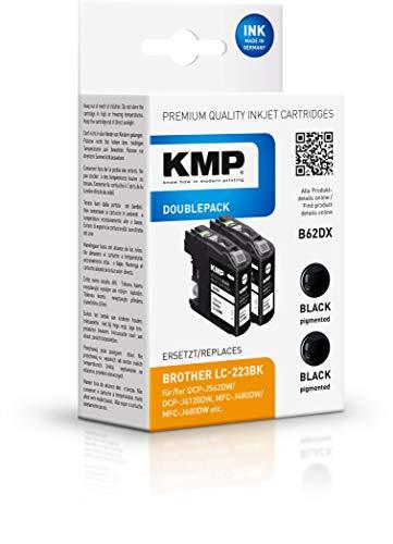 KMP - Cartucho de Tinta Compatible con Brother DCP-J4120DW / MFC-J4420DW, Color Negro, Color Negro 2 Unidad