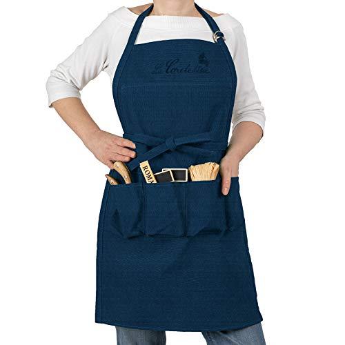 La cordeline CJN45JE Grembiule da Giardinaggio in Cotone Blue Jeans 85 x 03 x 75 cm