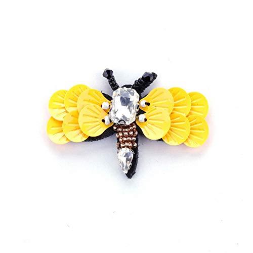HUNANANA Biene Brosche Pailletten Broschen Für Frauen Acryl Pailletten Kristall Brosche Mädchen Kleider Mantel Insekt Broschen Schmuck