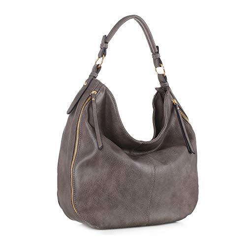 SG SUGU Hobo Shoulder Bags for Women Tote Handbags Fashion Large Capacity Ladies | Taupe