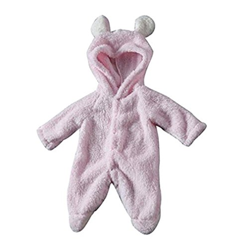 Ruiying Baby Unisex Winter Overalls mit Bär Stil Overall Kapuzen Jumpsuit Kapuzen Kleidung Herbst & Winter (6-9 Monate, Rosa)