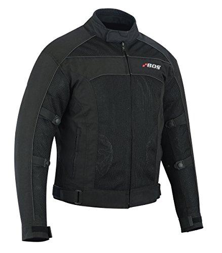motorrad Jacke herren mit protektoren XL, Schwarz