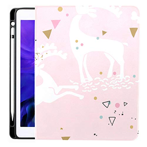 Ipad Pro 12.9 Case 2020 & 2018 With Pencil Holder Deer Pattern Smart Cover Ipad Case, Supports 2nd Gen Pencil Charging,case For 2020 Ipad Pro 12.9 Cover With Auto Sleep/wake