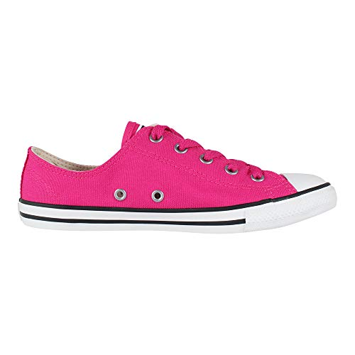 Converse Damen Chuck Taylor CTAS Dainty Ox Sneakers, Mehrfarbig (Pink Pop/Pink Pop/Silver 673), 37 EU