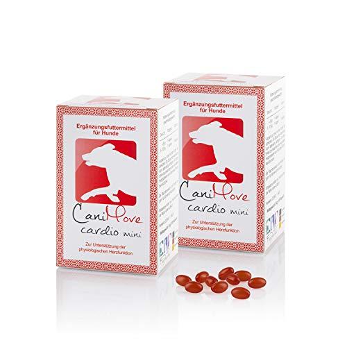 CaniMove Doppelpack (200 Kapseln) Cardio Mini - Ergänzungsfutter für Herz und Kreislauf mit n3, Weißdorn und Carnitin