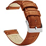 16mm Toffee Brown - Barton Alligator Grain - Quick Release Leather Watch Bands
