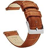 Cinturino per orologio Barton in pelle a sgancio rapido, lunghezza standard, 22 mm, colore: marrone toffee