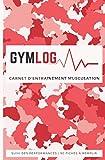 GymLog - Carnet d'entrainement musculation: La meilleure solution pour suivre vos performances, organiser vos séances et assurer votre progression | 90 fiches à remplir | Camo Rose